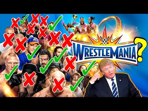 Wrestlemania 33 Predictions with Donald Trump