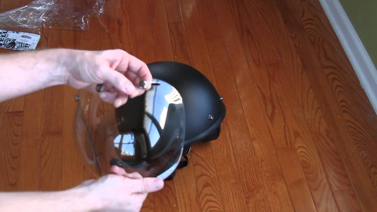 Bitwell Bubble Shield Fit On A Bell 500 Helmet Youtube