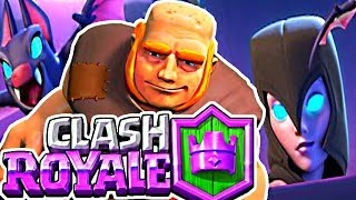 FAST GIANT NIGHT WITCH Deck! - Clash Royale!