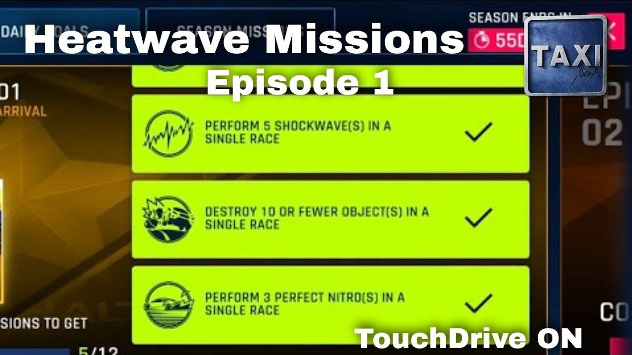 Download Asphalt 9 - Heatwave Season Missions - Episode 1 Easy Ones - 5 Shocks, 3 Perfect Nitros - TouchDrive