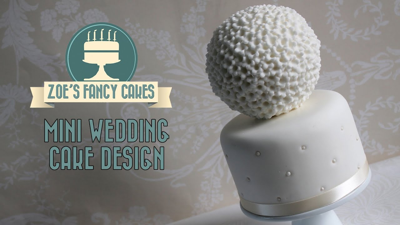 Mini Wedding Cake Idea Pomander Spherical Deisgn How To Cake - Sphere Wedding Cake