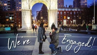 We're Engaged! 💍NYC + Our Engagement Story