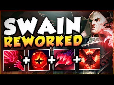 NEW SWAIN REWORK TOP GAMEPLAY IS ACTUALLY SO STUPID! REWORKED SWAIN TOP GAMEPLAY! League of Legends