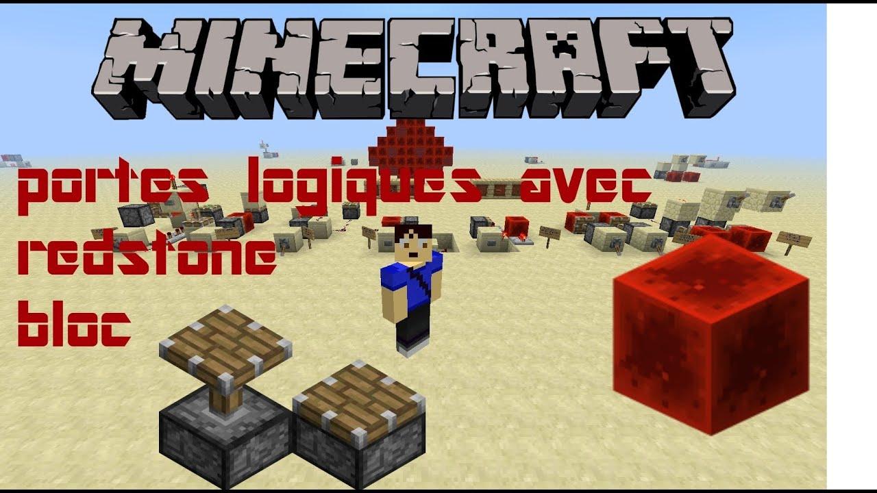 Portes logique avec redstone bloc minecraft 1 5 youtube for Porte logique