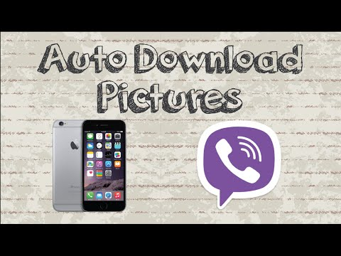 How to auto download pictures / images on Viber