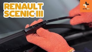 How to replace front wipers blades on RENAULT SCENIC 3 TUTORIAL | AUTODOC
