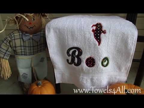 boo-it's-a-ghost-hand-towel-applique---video-demo