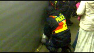 South African Police Search Rasta on Subway