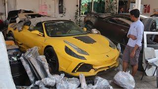 Crashed Supercar Junkyard In Dubai(ferrari,rollsroyces,mustangs,corvettes,bentleys)