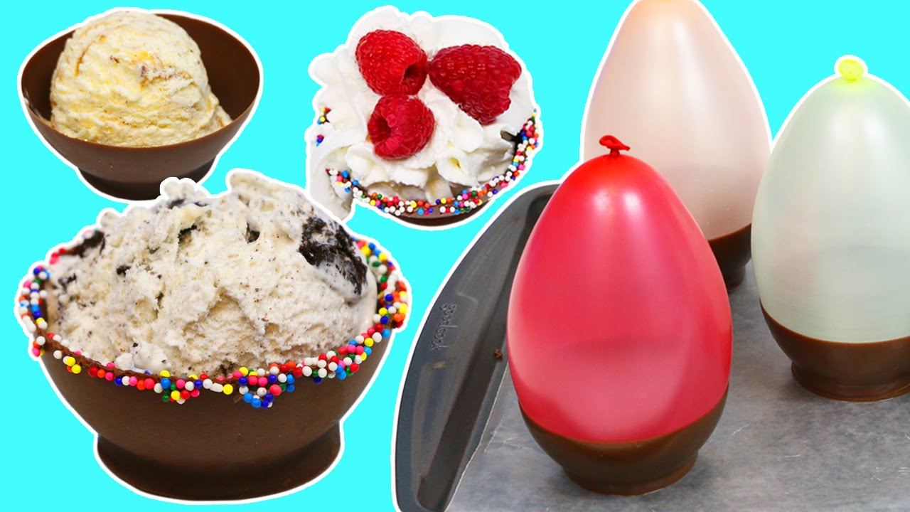 How to Make Chocolate Bowls with Water Balloons Fun  Easy DIY