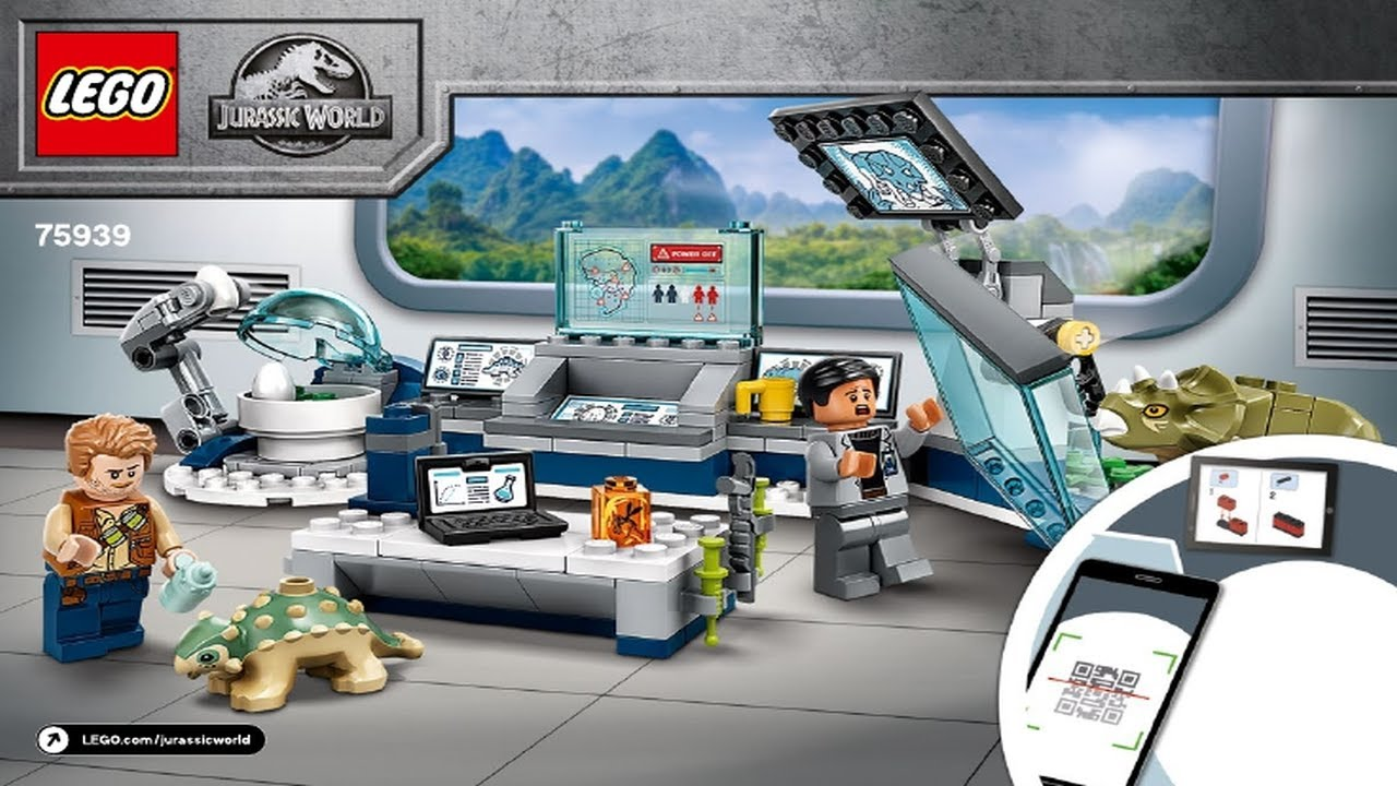 LEGO instructions - Jurassic World - 75939 -  Dr. Wu's Lab Baby Dinosaurs Breakout