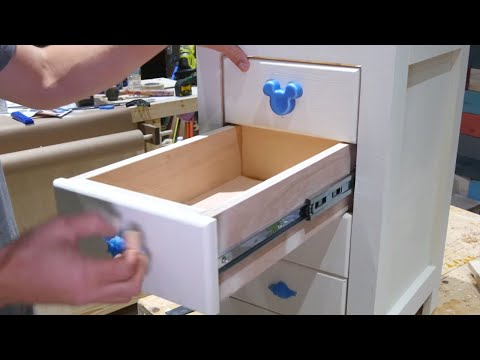 How To Build Desk Storage Cabinet with Drawers // Digital DIY Woodworking Plans