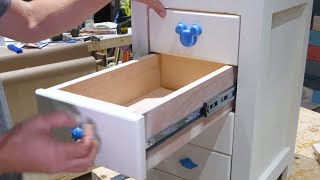 How To Make a Base Cabinet with Drawers // Desk Storage Solution