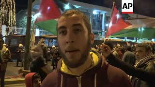 Palestinians in Greece protest Trump's move on Jerusalem