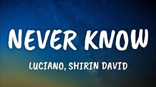 Luciano, Shirin David - Never Know (Lyrics)