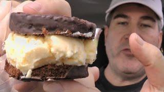 Carls Jr Hostess Ding Dong Ice Cream Sandwich Review