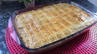 Torta de Frango Feita com Massa de Pastel