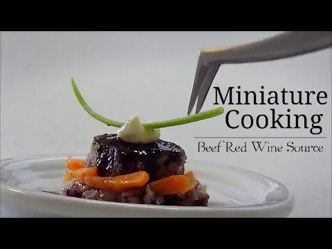 【Full】Mini Food #94 How to make  ミニチュア料理 『Beef Red Wine Source』 【Quality】Tiny Food Miniature food