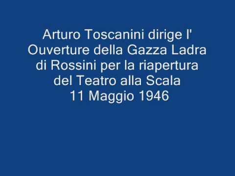 "Toscanini dirige l' Ouverture de ""La Gazza Ladra"""