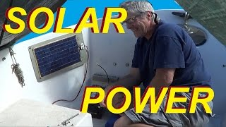 Solar Sailboat How to make Semi flexible Solar Panels where to install solar battery chargers