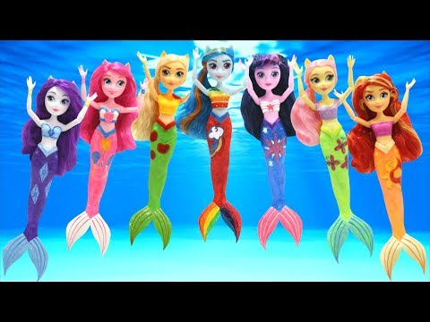 Play Doh 7 MLP Toys Equestria Girls Mermaid Inspired Mermaid Inspired Costumes