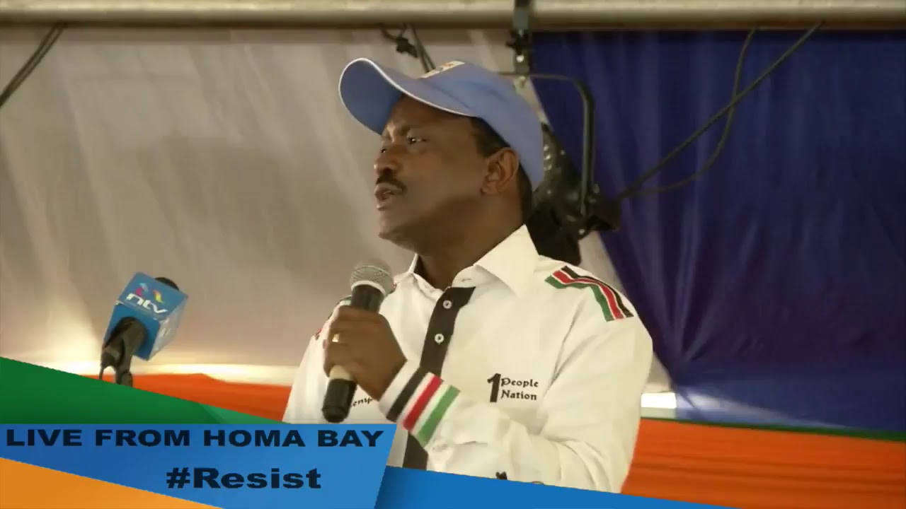 Attending the Luo Nyanza Region People's Assembly Meeting