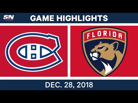 NHL Highlights | Canadiens vs. Panthers - Dec 28, 2018