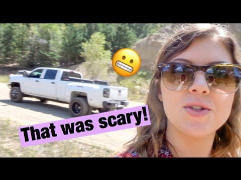 Almost CRASHED My Boyfriend's TRUCK!! *mountain vlog*