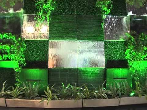 Atmos water wall fontane a muro youtube for Cascata a muro