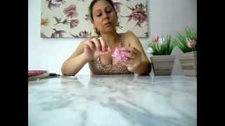 Como fazer flor de tecido aromática