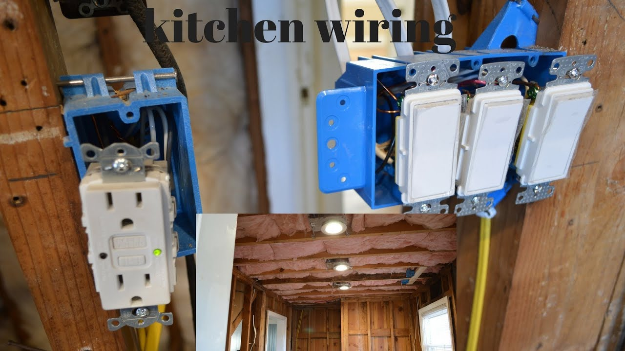 how to wire a kitchen when you are remodeling [ 1280 x 720 Pixel ]