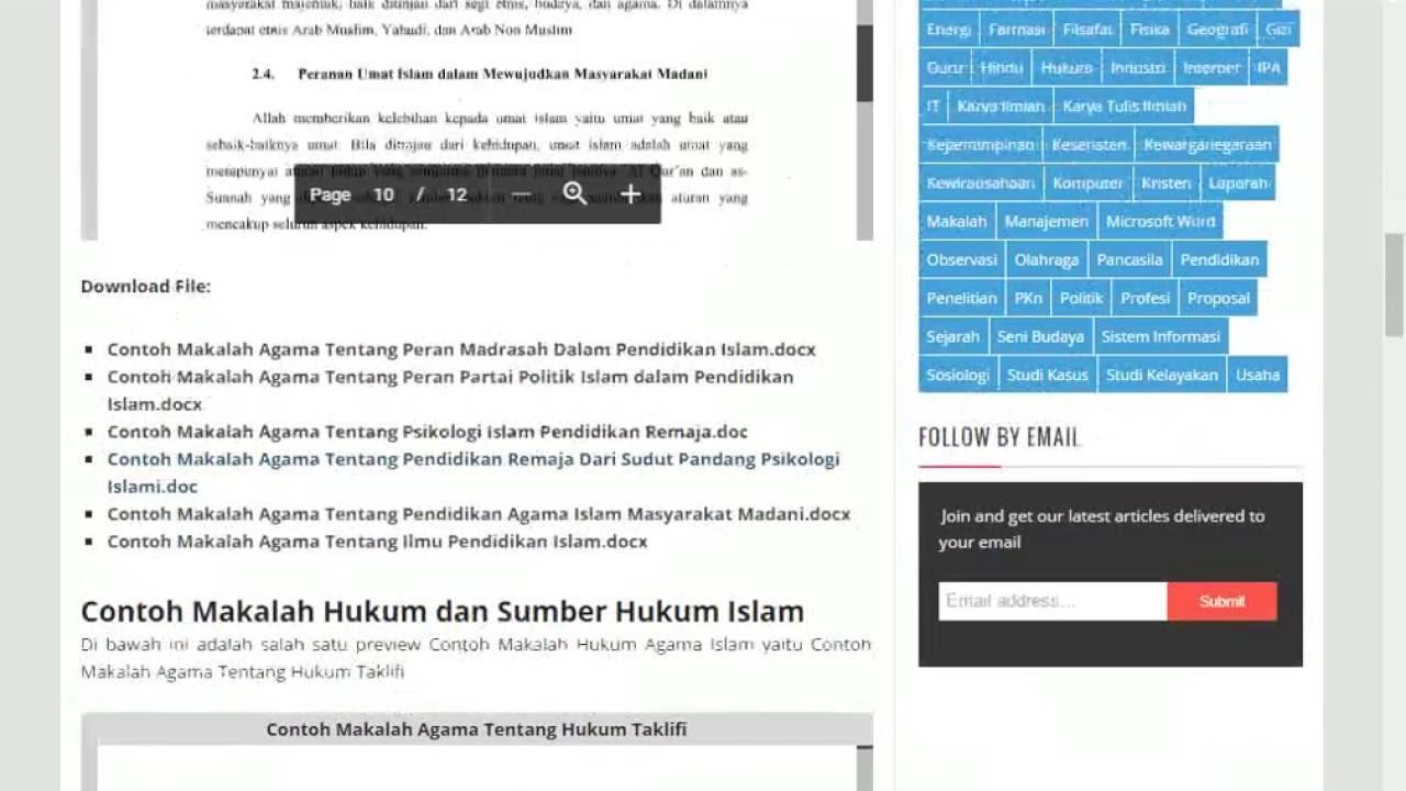 Contoh Makalah Agama Islam Format Doc Docx Microsoft Word Youtube