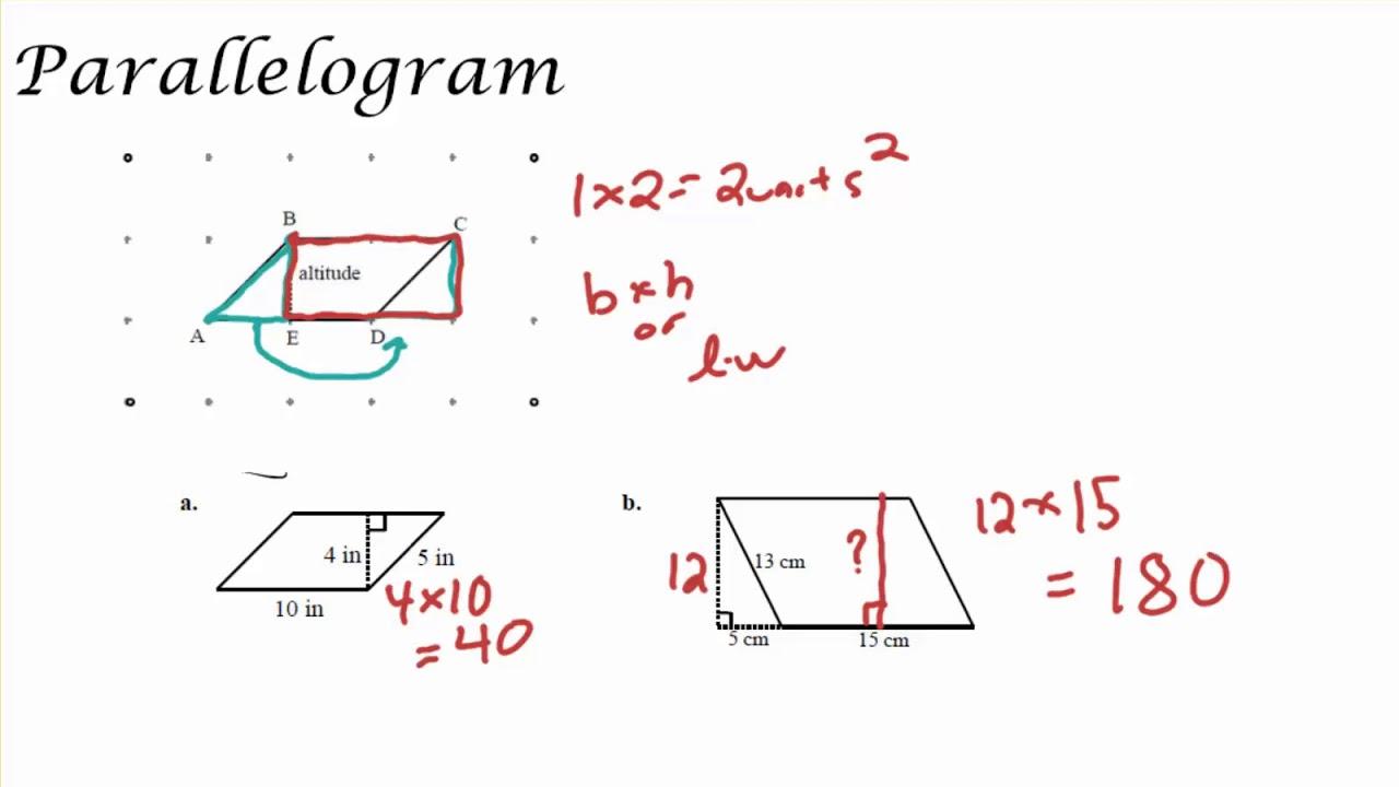 Area of Parallelograms [ 720 x 1280 Pixel ]