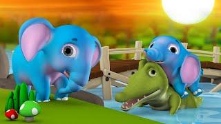 Baby Elephant's Strange Questions Telugu Story - ఏనుగు దాని వింత ప్రశ్నలు కథ 3D Kids Moral Stories