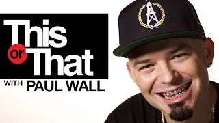 Paul Wall plays 'This Or That' | Presented by HotNewHipHop