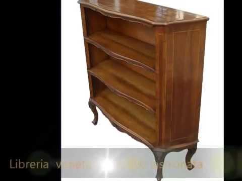 Restauro mobili antichi milano monza brianza libreria da ingresso lastronata inizio 900 youtube - Mobili in brianza ...