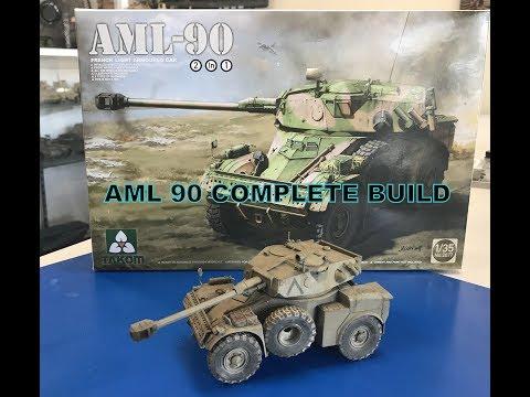 Building the Takom 1/35 AML 90 Israeli Armored car step by step