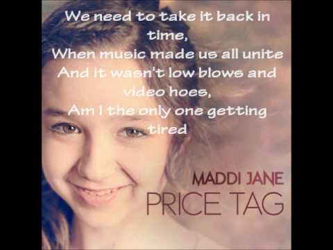 Price Tag Cover of Maddi Jane with Lyrics
