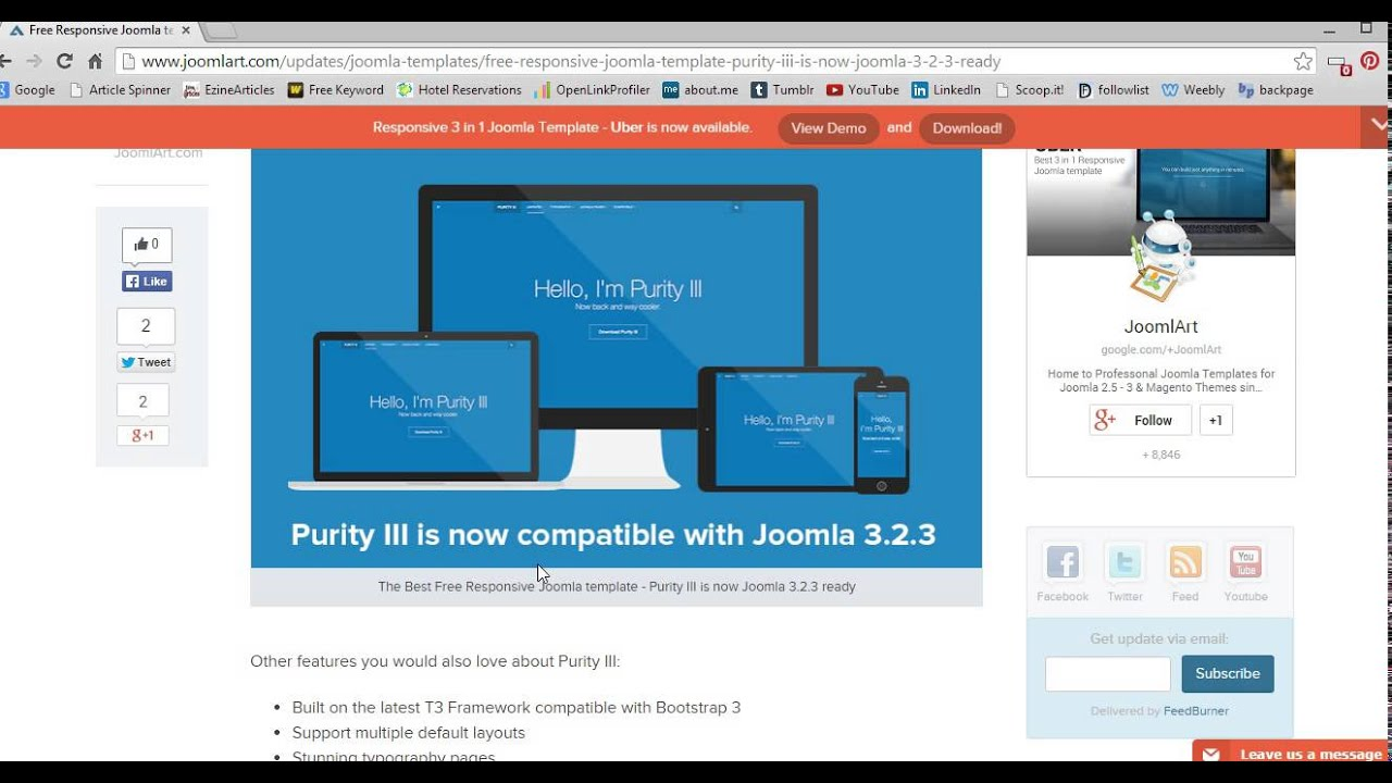 Responsive Joomla Themes Free