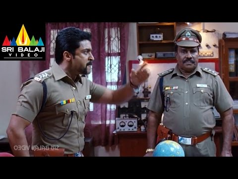 Singam (Yamudu2) Surya Warning to Officers | Suriya, Anushka, Hansika | Sri Balaji Video