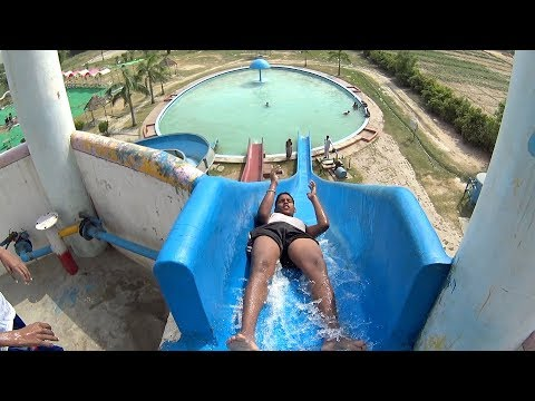 Scary Blue Water Slide at Sports Village Kanpur