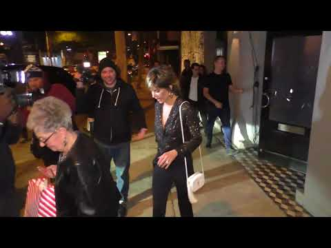 Harry Hamlin and Lisa Rinna outside Craigs restaurant in West Hollywood