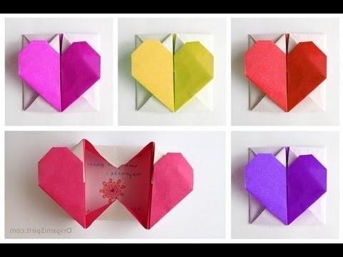 Renkli kağıttan kalpli kutu yapımı