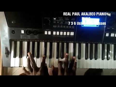 7 3 6 (Ti Mi La)  piano progression using Diminished Passes in F