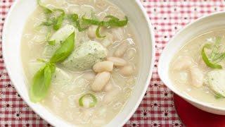 Вкусный фасолевый суп. Суп-пюре из белой фасоли.