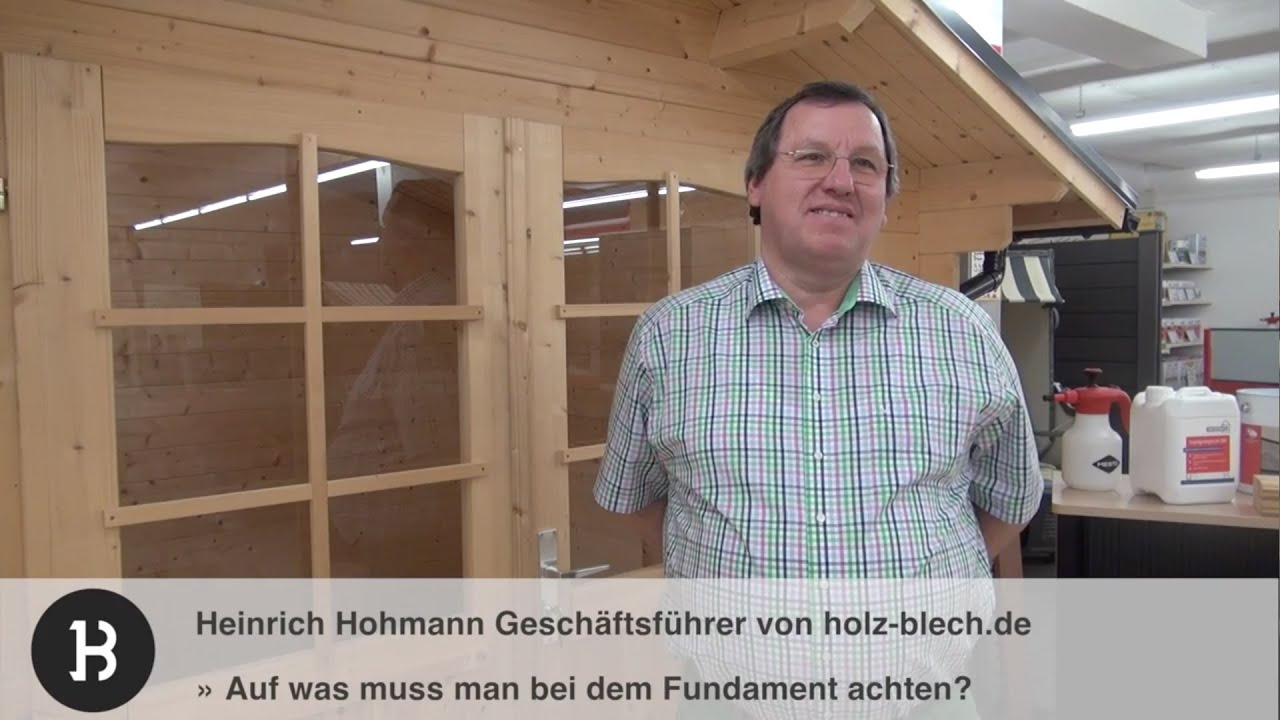worauf muss man beim fundament f r ein gartenhaus achten holz youtube. Black Bedroom Furniture Sets. Home Design Ideas