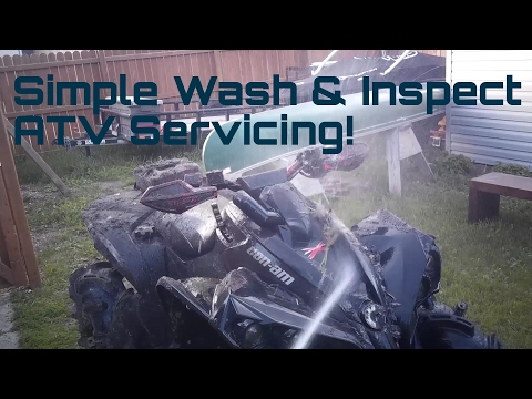 Simple Clean and Wash ATV Inspection! First Step Servicing Can-am