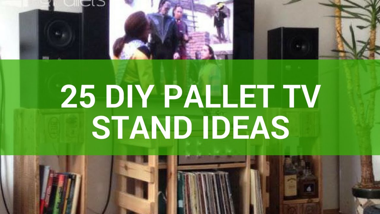 25 DIY Pallet TV Stand Ideas - YouTube