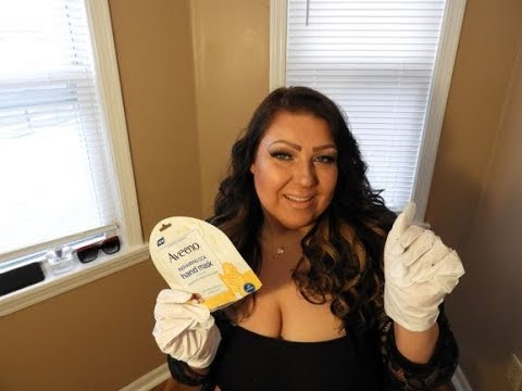 Aveeno Repairing Cica Hand Mask~Demo/Review