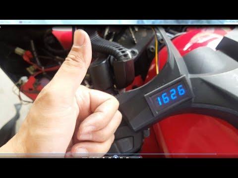 Yamaha R15 - Digital Clock (waterproof) Installation (DIY)